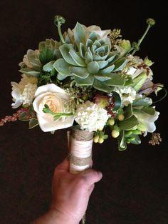 Unique succulents bouquet from Pittsburgh florist Green Sinner: http://greensinner.com/