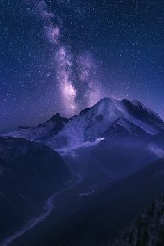 ponderation: At the Awe of the Universe by Abdulkhalek Taken from Sunrise area, first 2 exposures ( bracketed) for the land after sunset in the blue hour just before fog and clouds started rolling in the valley, and the other exposure for the milky way just before the last blue cast completely gone from the sky and the Galaxy started to be obvious by eye.