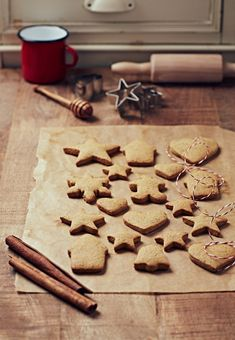 Biscuits parfumés Desert Recipes, Flan, Christmas Cookies, Nutella, Sweet Recipes, Food Photography, Muffins, Deserts, Food And Drink