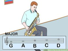 How to Play the Alto Saxophone (with Pictures) - wikiHow Saxophone Sheet Music, Clarinet, Smooth Jazz, Good Posture, Gibson Les Paul, Custom Guitars, Indie Music, Historical Romance, Soul Music