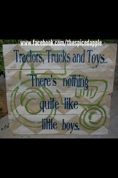 Tractor sign for a boys room.