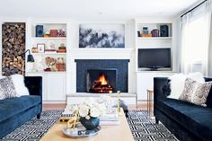 Cozy and contemporary family room | Style at Home