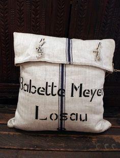 French Grain Sack cushion