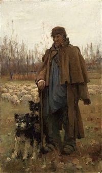A Normandy Shepherd by Arthur Melville