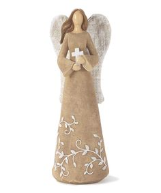 This Rustic Cross Angel Figurine by  is perfect! #zulilyfinds