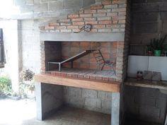 Pergola Over Garage Door Info: 7669050308 Outdoor Bbq Kitchen, Outdoor Oven, Backyard Kitchen, Outdoor Cooking, Kitchen Oven, Diy Kitchen, Argentine Grill, Built In Braai, Pergola On The Roof