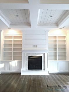 4 Magnificent Tips: Fireplace Built Ins Hide Tv painted fireplace stone.Tv Over Fireplace Vaulted Ceiling marble fireplace georgian.How To Open Fireplace. Fireplace Built Ins, Farmhouse Fireplace, Fireplace Remodel, Fireplace Design, Fireplace Ideas, Shiplap Fireplace, Basement Fireplace, Fireplace Surrounds, Fireplace Hearth