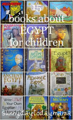 EGYPTIAN ART-- LESSON books about Egypt for children. These books would be a great addition to any egyptian art lesson, giving stories, facts and fun information about the life and art of the ancient Egyptians. Study History, Mystery Of History, 6th Grade Social Studies, Magic Treehouse, Thinking Day, Teaching History, Children's Literature, Ancient Civilizations, Art Lessons