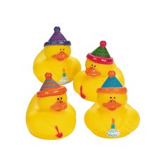 Happy Birthday Rubber Duckies - OrientalTrading.com 6.50/12