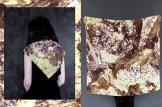 Shop Cisthene: This Is Your Chance To Make Up With Mother Nature #refinery29  http://www.refinery29.com/cisthene#slide6  Cisthene Pyrite Silk Scarf, $225, available at Cisthene.