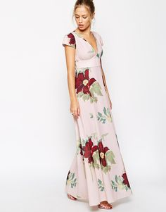 ASOS COLLECTION ASOS Maxi Dress In Floral Bloom Print. ❤️ this with a cropped jean jacket