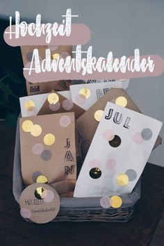 DIY diy wedding advent calendar - gift idea for .- DIY Hochzeitsadventskalender selbermachen – Geschenkidee für die Braut DIY wedding advent calendar – gift for the bride from the maid of honor - Diy Gifts For Girlfriend, Diy Gifts For Dad, Diy Gifts For Friends, Boyfriend Gifts, Diy Gifts For Christmas, Advent Calendar Gifts, The Bride, Vestidos Vintage, Boyfriend Birthday