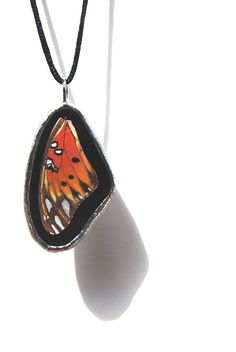 Real Butterfly Jewelry Butterfly Necklace Stained Glass Jewelry Made to Order (1433) via Etsy