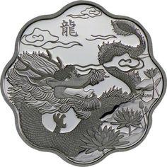 15 Dollar Silber Jahr des Drachen - Lotus PP