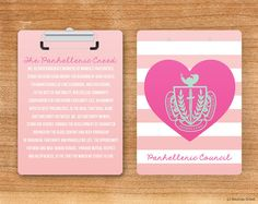 NPC Panhellenic Creed Crest Sorority Personalized Clipboard