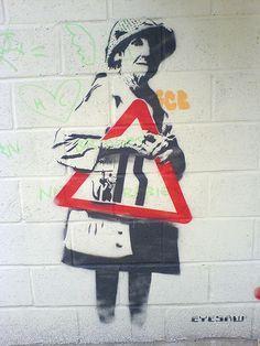 Street Art Banksy, Graffiti Wall Art, Banksy Graffiti, Urban Graffiti, Bansky, Street Art Love, Amazing Street Art, Pop Art, Stencil Art