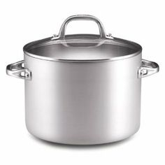 Anolon Chef Clad 8-Quart Covered Stockpot by Anolon. $139.95. Safe to use under the broiler; dishwasher safe; limited lifetime warranty. Constructed of aluminum with a professional clad stainless steel interior for fast, even heating. 8-quart stainless steel covered stockpot. Suitable for use on all cooktops, including glass and induction. Interior safe for use with metal utensils; cast stainless steel handles; glass lid allows monitoring of progress. This pan has the fines...