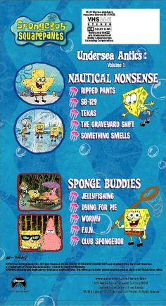 Spongebob the sponge who could fly vhs