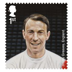 Football Heroes - Issued May 2013 Jimmy Greaves, England Royal Mail Stamps, Uk Stamps, Postage Stamps, Pure Football, Football Art, Soccer Art, England Football Players, Jimmy Greaves, Fifa