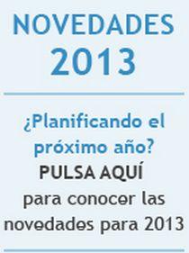 ¿Planificando el próximo año? Novedades 2013