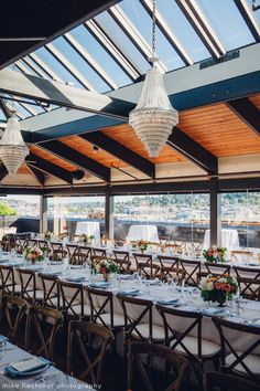 Hotel Ballard Wedding in Seattle, WA |Scandinavian Bohemian themed wedding with stunning chandeliers on Seattle rooftop venue, Olympic Rooftop Pavilion | Perfectly Posh Events, Seattle Wedding Planner | Mike Fiechtner Photography | Floral Design by The London Plane