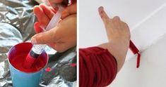 Carga una jeringa de pintura y la utiliza para pintar la pared. ¿El resultado? ¡Soprendente!