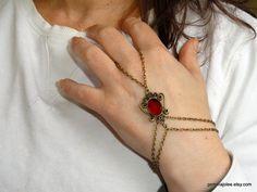 Slave bracelet Carnelian slave bracelet Finger bracelet