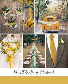 Spicy Mustard Yellow Autumn Wedding Inspiration Board