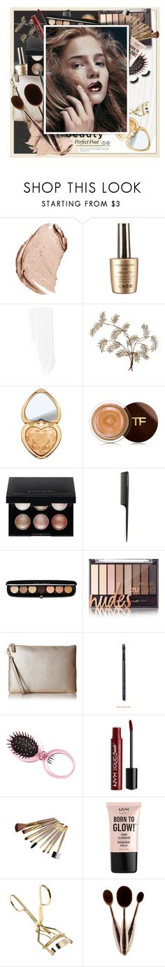 """""""Make It Metallic...   Beauty"""" by pannise ❤ liked on Polyvore featuring beauty, Christian Dior, Chanel, Too Faced Cosmetics, Tom Ford, Witchery, GHD, Marc Jacobs, Calvin Klein and Charlotte Russe"""
