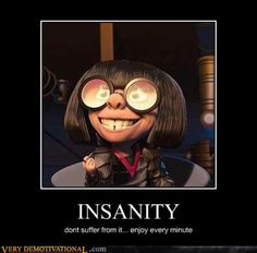 Edna Mode from The Incredibles lol Edna Mode, Film Disney, Disney Movies, Disney Stuff, Funny Quotes, Funny Memes, Hilarious, Funny Humour, Disney And Dreamworks