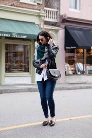 Znalezione obrazy dla zapytania blanket scarf outfit leather jacket