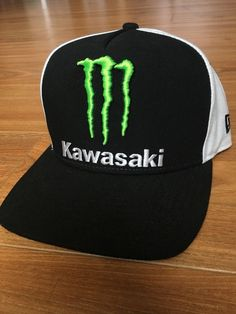 Monster Energy Athlete Hat Team Kawasaki New Era Snapback Hat Rare  fashion   clothing   39d3dee2b8db