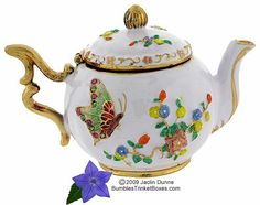 Trinket Box: Teapot with Butterfly