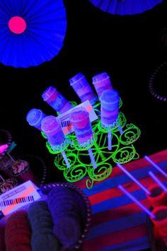 Neon Glow-in-the-Dark Birthday Party