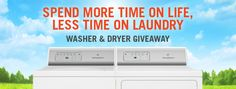 Speed Queen Home Laundry is giving away a Washer and Dryer to one lucky winner! Enter to win on their Facebook page.
