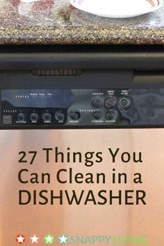 There are quite a few things you can wash in a dishwasher besides dishes and kitchen ware. This means that in many cases, you can combine some cleaning jobs with your regular dishwashing, saving you time and money on your water and electricity or gas bill.