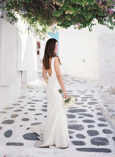 Pronovias wedding gown - Greek wedding photographers Les Anagnou - Greece wedding photographers