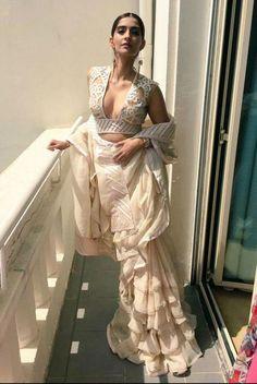 Sonam Kapoor Sari-Dress Fusion At Cannes 2015