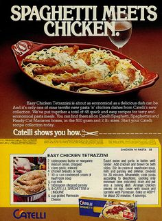 Vintage Ad #149 - Spaghetti Meets Chicken, via Flickr.