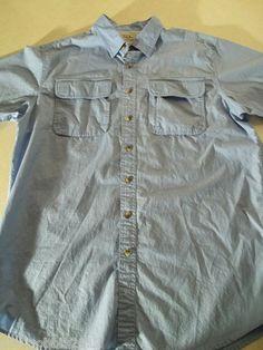LL Bean Men's Short Sleeve Shirt Vented Fishing Hiking  $18.55 Free shipping.