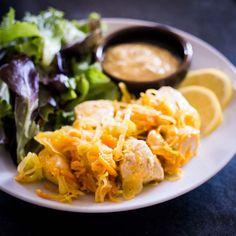 Keto Chicken Hash Recipe with Coconut Dijon Sauce #keto https://ketosummit.com/keto-chicken-hash-recipe