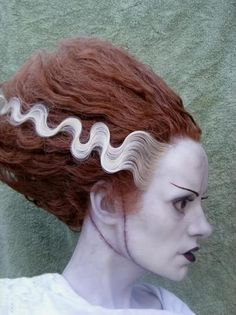 Bride of Frankenstein was actually a redhead. good to know.