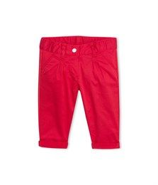 Baby girl stretch satin trousers Vermeil red - Petit Bateau