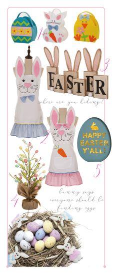 1. Egg Bag http://amzn.to/2lmhXL6 2. Bunny Apron http://amzn.to/2ltB3gA 3. Bunny Décor http://amzn.to/2mkgTVA 4. Easter Egg Tree Décor http://amzn.to/2maJ4Hl 5. LED Egg Décor http://amzn.to/2l6vvaQ