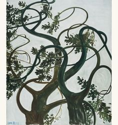 'Trees in the Wind' (Four Seasons series), 2014 - Zhang Enli source: Contemporary Artists, Modern Art, Gold Paint, Four Seasons, Painting & Drawing, Moose Art, Abstract Art, Sculptures, Drawings