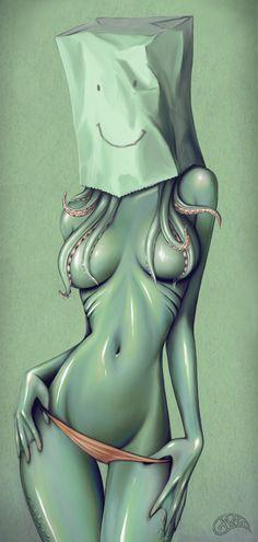 Paper Bag Girls by Gina Kiel, via Behance