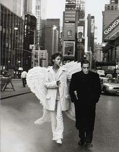 Amber Valletta in 'City of Angels' photographed by Peter Lindbergh for 'Harper's Bazaar', Dec 93 Peter Lindbergh, Jean Paul Goude, The Wicked The Divine, Amber Valletta, Angeles, Ange Demon, Photo D Art, Angels Among Us, Mode Vintage
