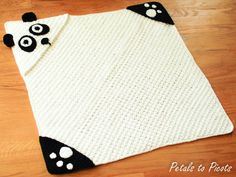 ***This listing is for an immediate download digital crochet pattern, not the actual crocheted item*** This Panda hooded towel is not only cute
