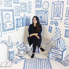 Home Interior Cuadros .Home Interior Cuadros Mural Painting, Mural Art, Wall Murals, Wall Art, Stage Design, Event Design, Catalina Bu, Art Public, Photo Zone