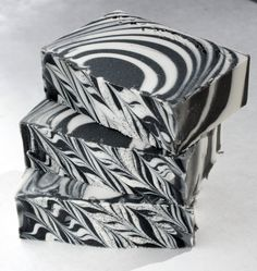 Zebra Bar Licorice Mint One Handmade Cold Process Soap With Shea Butter